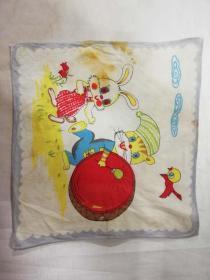 老手帕——卡通人物(兔子与小鸟)