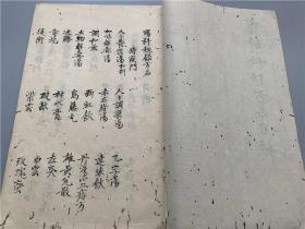 日本旧抄本《疡科秘录方名》1册全
