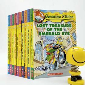 英文进口原版Geronimo Stilton老鼠记者书1全10册 英文版老鼠记者第一季 扫码音频