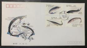 1994-3T鲟邮票总公司首日封★鲟鱼、中华鲟、中华白鲟、达氏鲟