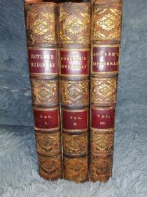 1819年 Samuel Butler Hudibras Dr Greys  8副整页插图 另有28 副小插图  3本全  书口花纹   21.5X14CM