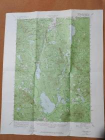 国外原版地图之Ossipee Lake 1958 奥西佩湖地图