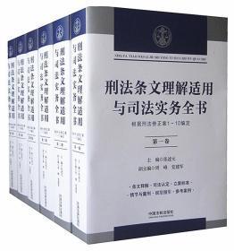 刑法条文理解适用与司法实务全书16开平装全6册中国法制出版社