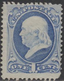 美国邮票B,1870年建国国父、科学家、外交家富兰克林,世界名人