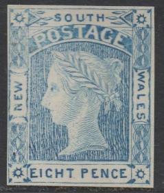 英联邦邮票,英属澳大利亚新南威尔士1851年维多利亚女王,印样3