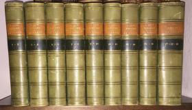 1864-1866年  带作者亲笔授权字笺 Histoire de La Grece  希腊史 法语  含地图  9本全   23.5  x 16 cm   重12KG