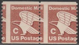 美国邮票, 1981年白头海雕,国家象征,齿孔移位变体,双联