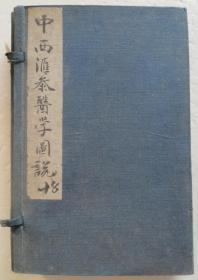 原版出售 中西汇参医学图说 一函四册全 品好未阅书