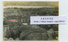 民国1934年福建厦门城市大角度建筑全景老照片