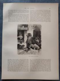 1880年 木口木刻 木版画(正背印刷)之096号 200102