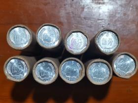 银行原封1986年五分硬币,乡下收来的,保真,十块一枚,一卷50枚,一共9卷,一起走3500元