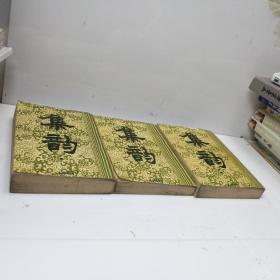 集韵(据扬州使院重刻本影印)上中下三册全1634页 1983年1版1印