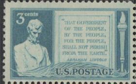 美国邮票D,1948年林肯在葛底斯堡演说,1全