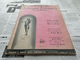 """首现民国1939年印行的珍稀纪念版""""世界圆舞曲之王""""《约翰·施特劳斯的声乐回顾专辑》"""