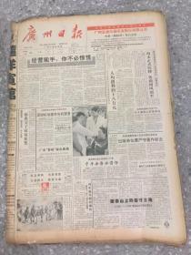 广州日报1992年11月份 原版合订