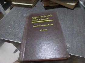 HERBAL HANDBOOK FOR FARM  ADN   STABLE    SECOND EDITION 1963  库2