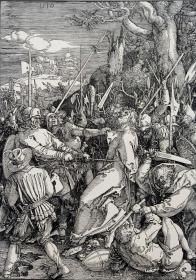 """""""巨幅丢勒名画""""1910年复刻版""""丢勒Albrecht Dürer大受难""""系列木刻版画—《基督的背叛》48x34cm 原尺寸复刻"""