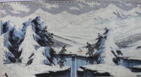 孔祥成老师,雪景,尺寸180+96厘米,仅此一副,已落款,特价