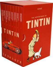 丁丁历险记 套装 英文原版 Tintin Collection The Adventures of Tintin 精装 收藏版 丁丁 1-8全套 8本套装