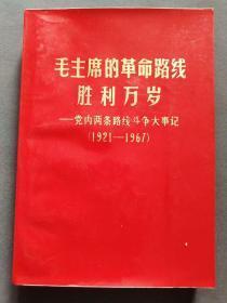 毛主席的革命路线胜利万岁,党内两条路线斗争大事记(1921-1967),四张毛林合影五张林彪题词,数十张毛主席像,苏州医学院编—5045