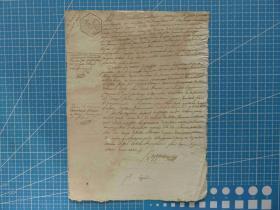 1840年左右欧洲25分手写原始信件---手账、收藏专用--水印、棉麻纸(49)