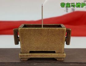 带座马槽炉 铜香炉