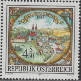 奥地利邮票ZG, 1985年加斯顿城千年,铜版画《加斯顿风光》,1全
