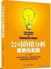 公司价值分析 案例与实践 影印版
