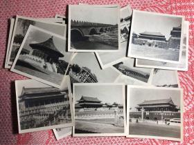 50年代 北京天安门、故宫、天坛、万寿山、北海等建筑风景老照片一组24枚,品相很好
