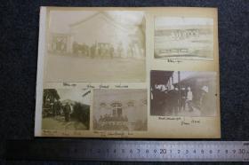 清代1900-1901年八国联军义和团运动时期,联军在北京一带的军事行动老照片册页一组9张