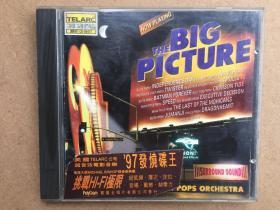 CD光盘THE BIG PICTURE美国TELARC公超音效电影音乐97发烧碟王