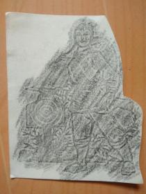 开封儿童画:女民兵