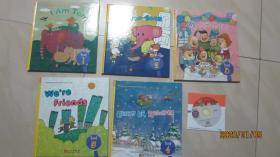 布朗儿童英语2.0 LEVEL1 [1 2 3 4 5]五册 带cd光盘1张