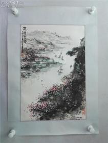 福建书画名家张金鉴山水《春回大地》一幅