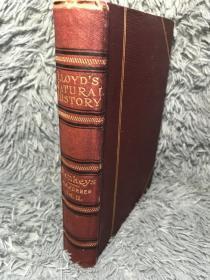 1897年 LLOYDS NATURAL HISTORY A HANDBOOK TO THE PRIMATES 含16副彩色插图  另有8副拉页地图  18.6X13.5CM