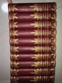 民国版 THE CHILDRENS ENCYCLOPEDIA 10本全 布面精装版 25*18CM 含大量的精美彩色及黑白插图 书顶刷红色