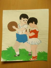 开封儿童彩色画:从小爱锻炼