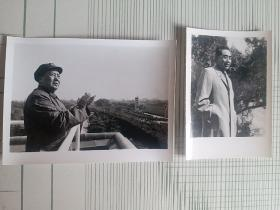 敬爱的毛主席和周总理的照片