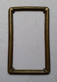 文房老銅防圈(鎮尺 )         尺寸:12.5cmx7.5cm。圓凸型,漂亮精致。