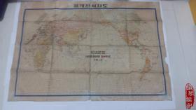 外文原版朝鲜韩国地图老年头外文原版韩国朝鲜半球地图韩文原版 小店开展本店书籍回收业务,欢迎咨询