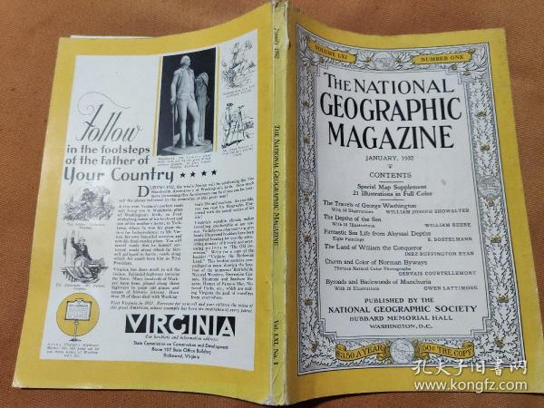 National Geographic January 1932 国家地理杂志1932年1月