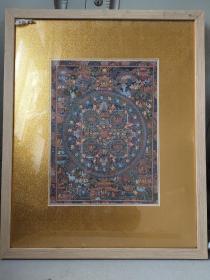 90年代手绘唐卡,装框