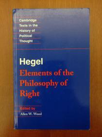Hegel: Elements of the Philosophy of Right(进口原版,国内现货)