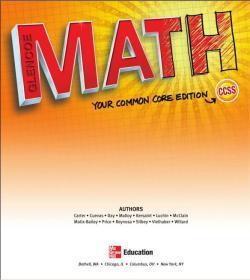 美国初中数学原版英文教材课本教科书(7-9年级)