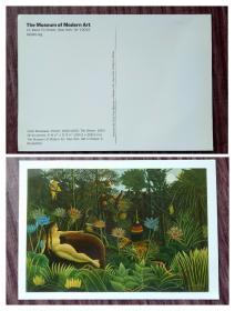 外国明信片,法国画家卢梭,博物馆版美术绘画,品如图