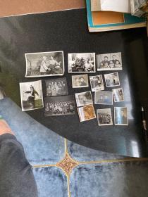 鞍山市戏曲工作者五十年代至八十年代的生活照舞台剧照等等老照片15张