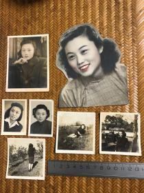 民国老照片  同一美女老照片7张(尺寸见图)
