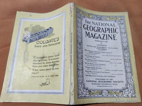 National Geographic February 1922 国家地理杂志1922年2月