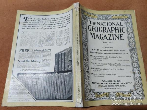 National Geographic April 1923 国家地理杂志1923年4月