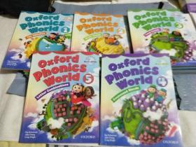牛津自然拼读系列教材oxford phonics world(1.2.3.4.5)5本合售 每本都有2张光盘(共10张光盘)